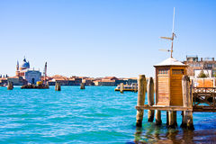 Vaporetto Station on Canal Grande in Venice, Italy Stock Photography