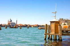Vaporetto Station on Canal Grande in Venice, Italy Stock Image