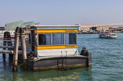 Vaporetto station: Tronchetto Royaltyfri Fotografi