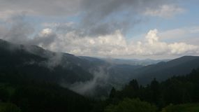 Vapori della montagna Fotografie Stock Libere da Diritti