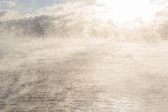 Vaporing sea at winter Royalty Free Stock Image