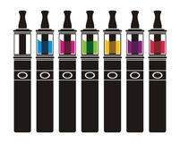 Vaporizer with colorful lliquid Stock Photo