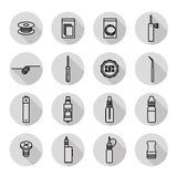 Vaporizer icon set Stock Photo