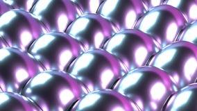 Vaporwave orgánico de neón del fondo abstracto de plata iridiscente del bucle infinito de las burbujas stock de ilustración