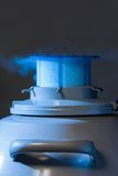 Vapour coming out of liquid nitrogen container Stock Photography