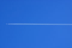 Vapour trail Royalty Free Stock Photo