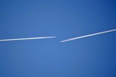 Vapour Trails - Suitable For A Background Royalty Free Stock Photography