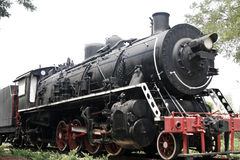 Vapour train. An outdated vapour locomotive, it has already had a history of 80 years Stock Images