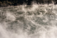Vapours above volcanic lake in Waimangu Stock Photography