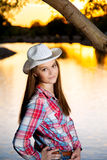 Vaqueira adolescente Sassy Fotografia de Stock