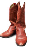 Vaqueira do estilo ocidental/vaqueiro vermelhos Boots Foto de Stock Royalty Free