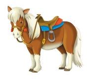 Vaqueira - vaqueiro - oeste selvagem - ilustração para as crianças Fotos de Stock Royalty Free