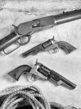 Vaqueiro idoso Guns Fotos de Stock Royalty Free