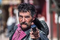 Vaqueiro irritado With Gun Imagem de Stock Royalty Free