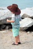 Vaqueiro Kid na praia Fotografia de Stock