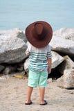 Vaqueiro Kid na praia Imagens de Stock