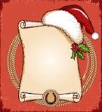 Vaqueiro New Year Ilustração do americano do vetor Fotos de Stock Royalty Free