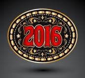 Vaqueiro projeto oval da fivela de cinto de 2016 anos Imagem de Stock Royalty Free