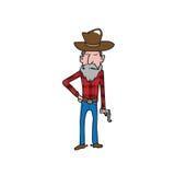 Vaqueiro que guarda a pistola Foto de Stock