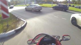 Vaqueiro urbano em uma motocicleta filme