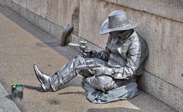 Vaqueiro vivo da estátua Fotos de Stock Royalty Free
