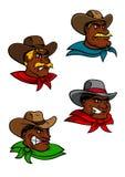 Vaqueiros e xerifes ocidentais dos desenhos animados Imagem de Stock