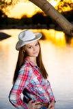 Vaquera adolescente descarada Fotografía de archivo