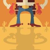 Vaquero con el fondo de los armas Imagen de archivo libre de regalías