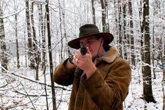 Vaquero con el rifle Imágenes de archivo libres de regalías