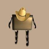 Vaquero de la computadora portátil Imagenes de archivo