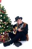 Vaquero de la Navidad Imagenes de archivo