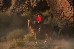 Vaquero de reclinación Foto de archivo