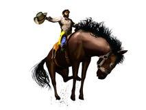 Vaquero del rodeo stock de ilustración
