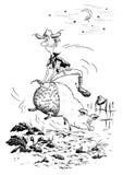 Vaquero en cerdo Imagen de archivo