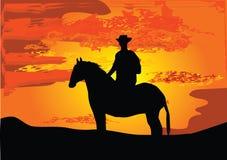 Vaquero en hors