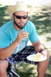 Vaquero en la comida campestre Fotografía de archivo libre de regalías