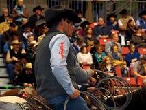 Vaquero On Horseback del rodeo imagen de archivo libre de regalías