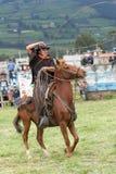Vaquero indígena en Ecuador Imagen de archivo libre de regalías