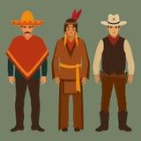 Vaquero, indio y mexicano, Imágenes de archivo libres de regalías
