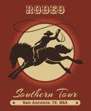 Vaquero Poster del rodeo stock de ilustración