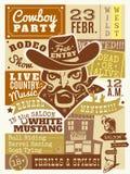 Vaquero Poster Illustration Imagen de archivo