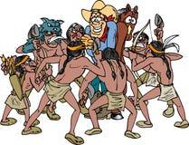 Vaquero rodeado Imagen de archivo