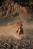 Vaquero Roping Fotografía de archivo libre de regalías