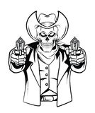 Vaquero Skull Vector Illustration Foto de archivo libre de regalías
