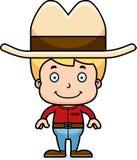 Vaquero sonriente Boy de la historieta libre illustration