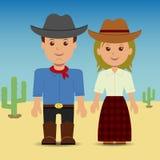 Vaquero y cowgirl Fotografía de archivo libre de regalías