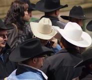 Vaqueros con el vaquero Hats Imagen de archivo libre de regalías