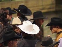 Vaqueros con el vaquero Hats Imagen de archivo