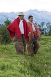 Vaqueros de la región de los Andes en Ecuador Fotos de archivo