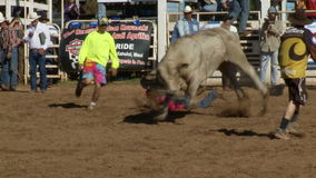Vaqueros del rodeo - montar a caballo de Bull en la cámara lenta - clip 7 de 12 metrajes